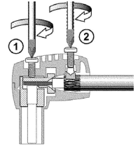 comega antennestik montering