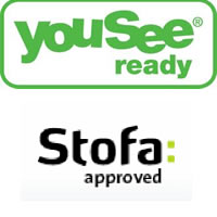 godkendte antennestik YouSee Ready Stofa Approved